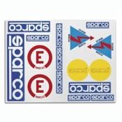 SPARCO Aufkleber Set von 16 Stickern