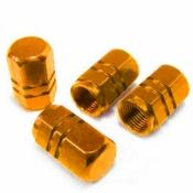 Ventilkappe Aluminium eloxiert Gold