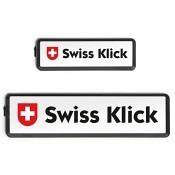 SWISS KLICK Nummernrahmen Langformat SET schwarz..