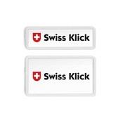 SWISS KLICK Nummernrahmen Hochformat SET Weiss