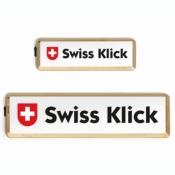 SWISS KLICK Nummernrahmen Langformat SET Gold