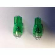 4fach SUPER LED Standlichtbirnen Birnen T10 Grün