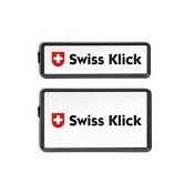 SWISS KLICK Nummernrahmen Hochformat SET Schwarz..