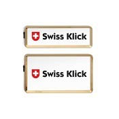 SWISS KLICK Nummernrahmen Hochformat SET Gold