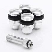 Set of Flat aluminum air valves JR v1 - SILVER