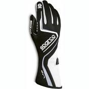 Sparco Handschuh Lap  schwarz/weiß