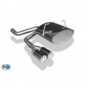 FOX-Endschalldämpfer Mini One/ Cooper R50 Endschalldämpfer Ausgang mittig - 2x70 Typ 11