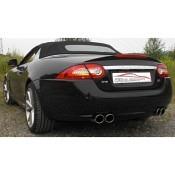 Jaguar XKR Cabrio 70mm Duplex Sportendschalldämpfer Friedrich Motorsport