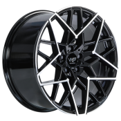 WP WHEELS WP 972 Schwarz front Polished BMW