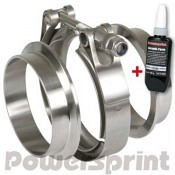 Powersprint Auspuff Schnellverschluss-T-Bandschellenset