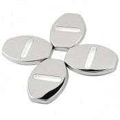 Edelstahl Türschloss Abdeckung für VW Ohne Logo  Silver