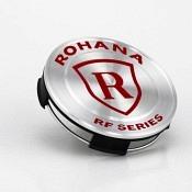 Rohana RFX Center Cap - Gebürstetes Titan / Rot